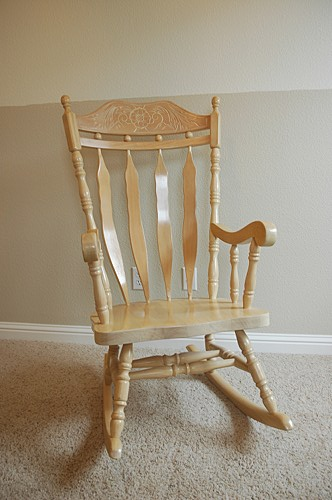 wooden rocking chair for nursery. i decided to add some foam cushioning and a slipcover this old chair. could have just gotten another chair for emma\u0027s nursery, but was the wooden rocking nursery b