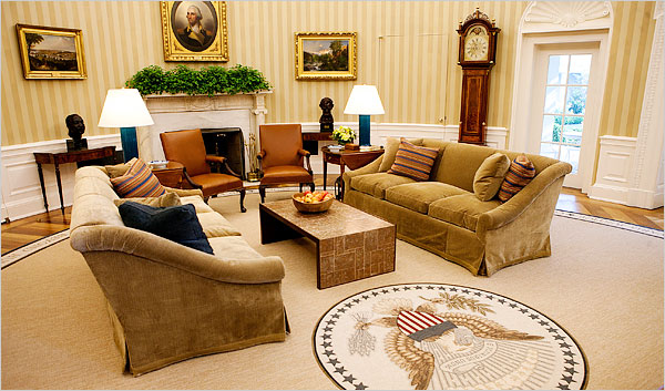 The world 39 s most famous office gets a makeover makely Oval office decor by president