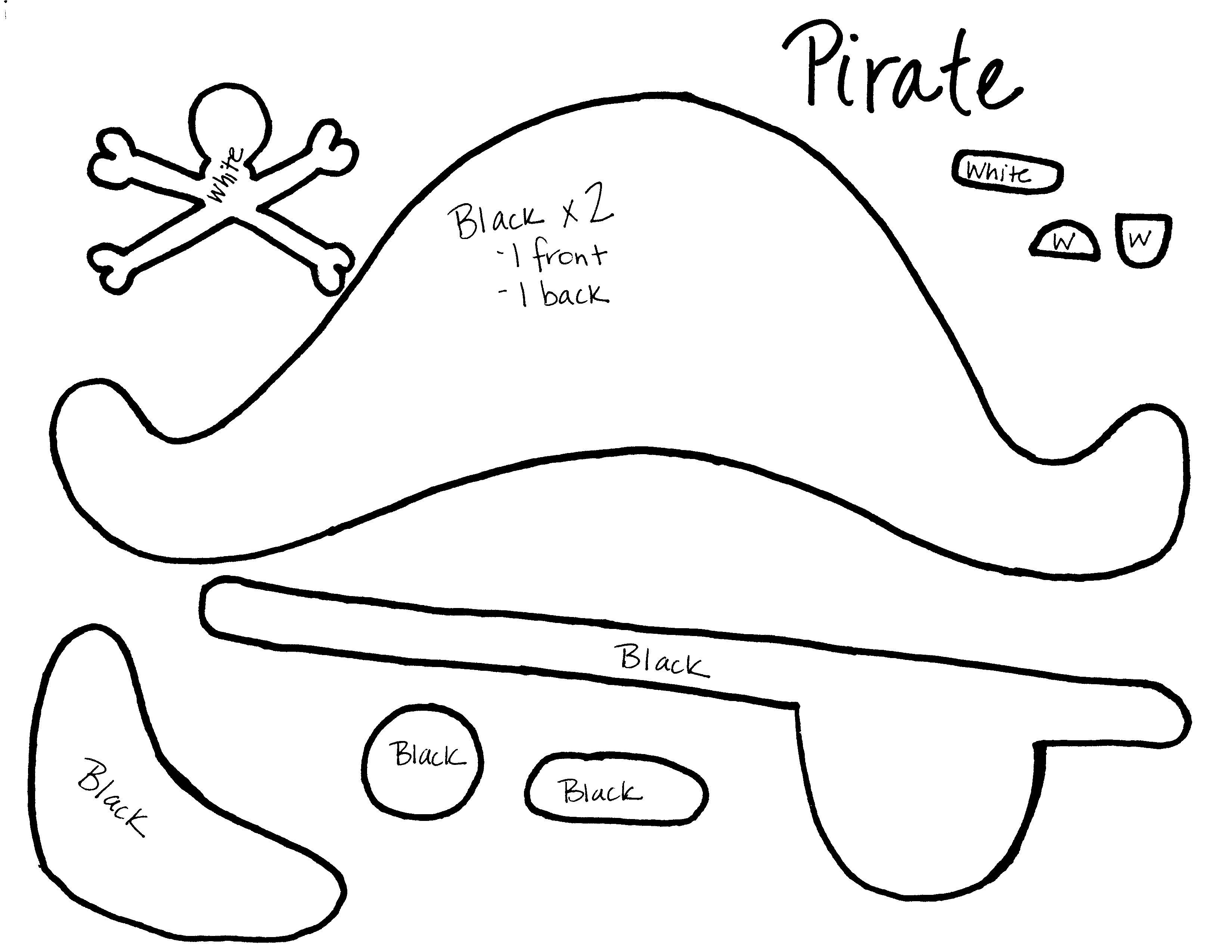 Выкройка шляпа пирата своими руками 21