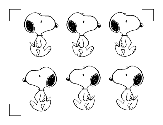 Snoopy Images with Registration Marks for Silhouette SD Print and Cut Feature