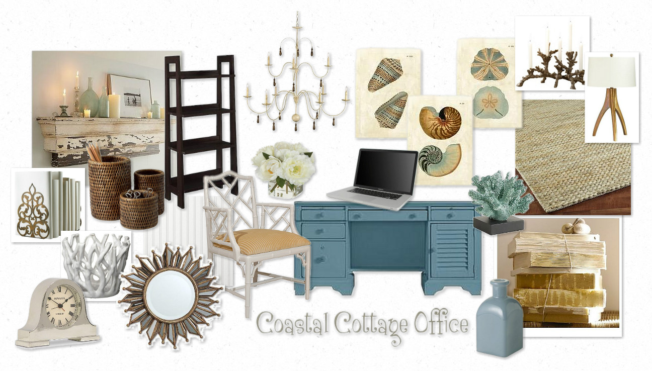 Setting the Mood for a Coastal Cottage Office - Makely School for ...