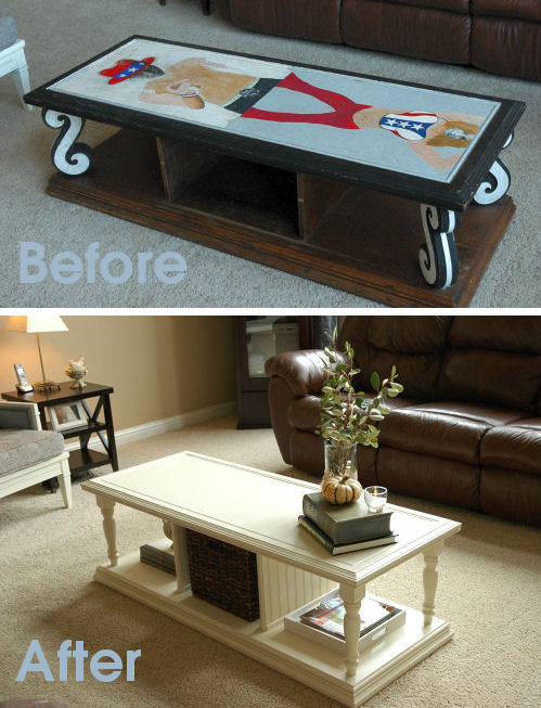 31 days to an eclectic home day 9 freebies makely Eclectic coffee table makeovers