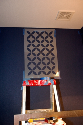 How To Stencil On A Textured Wall Makely