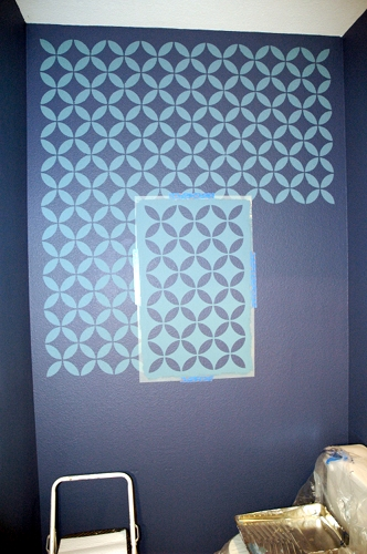 How to stencil on a textured wall makely for Paint templates for walls