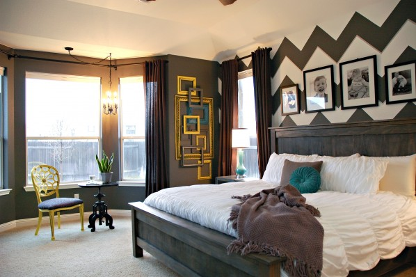 Interior Chevron Bedroom Ideas mastering the master bedroom reveal makely its hardly recognizable as same room