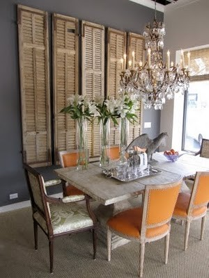 It 39 s a pinterest linky party makely for Orange and grey dining room