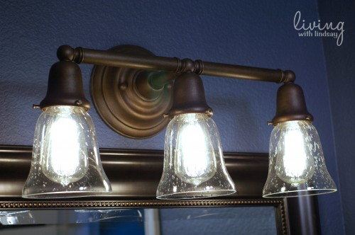 The Evolution Of A Light Fixture Makely - Bathroom vanity lights with shades