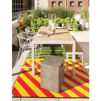 How to add color to a room without painting the walls for Cb2 indoor outdoor rug