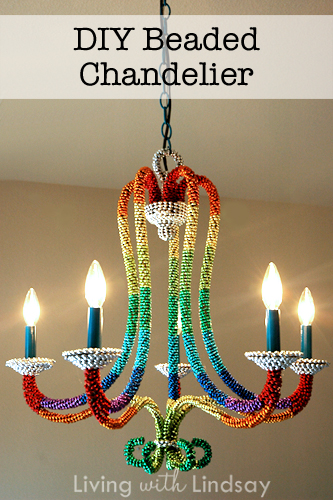 Easy diy beaded chandelier makely for mozeypictures Images