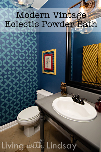 Modern Vintage Powder Bathroom Reveal Makely School For