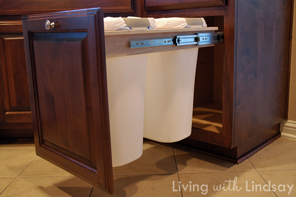 Kitchen Waste Basket Holder: How To Build A Pull Out Trash And Recycling Bin