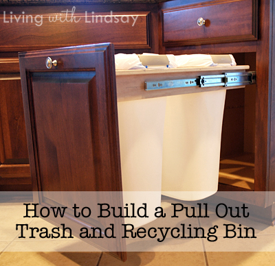 how to build a pull out trash and recycling bin makely school for girls. Black Bedroom Furniture Sets. Home Design Ideas