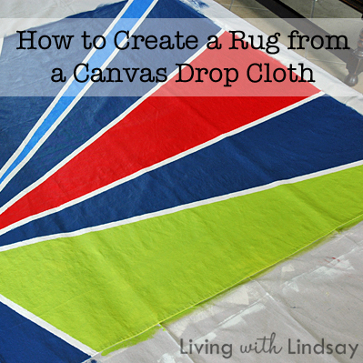 How To Make An Outdoor Rug From A Canvas Drop Cloth   Makely