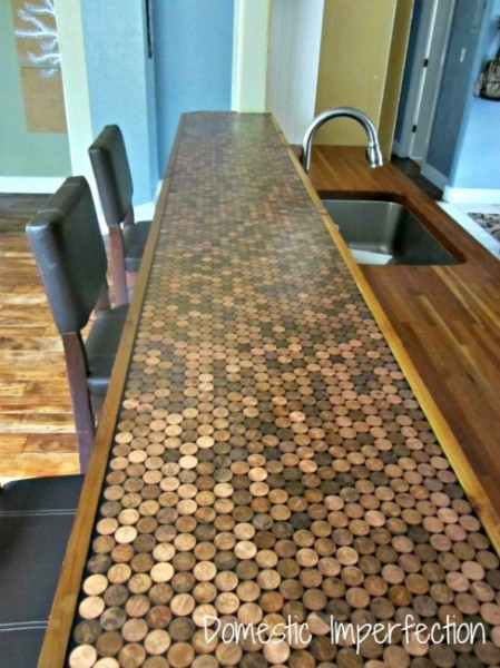 A penny for your thoughts makely for Mosaic tile bar top