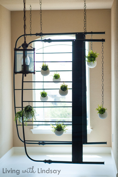 Diy hanging bed frame faux planter makely school for girls for Diy hanging bed