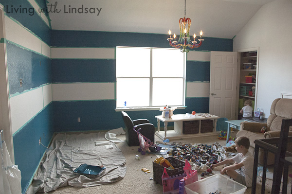 How to Tape and Paint Crisp, Level Stripes - Makely Home Interior Designs Painting Stripes on interior garage paint designs, interior door paint color ideas, interior design living room paint,