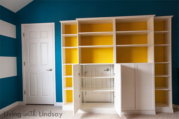 Hiding An Eyesore With A Quot Built In Quot Bookcase Makely