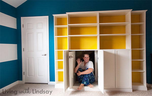 Hiding An Eyesore With A Built In Bookcase