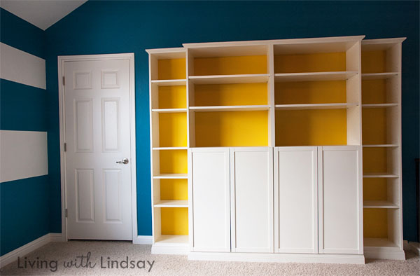 Billy Bookcase Half Doors : The great thing about this Billy ?builtin? idea is that it looks
