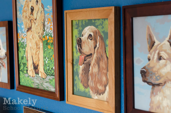 Mixed Frame Gallery Wall | Makely School for Girls