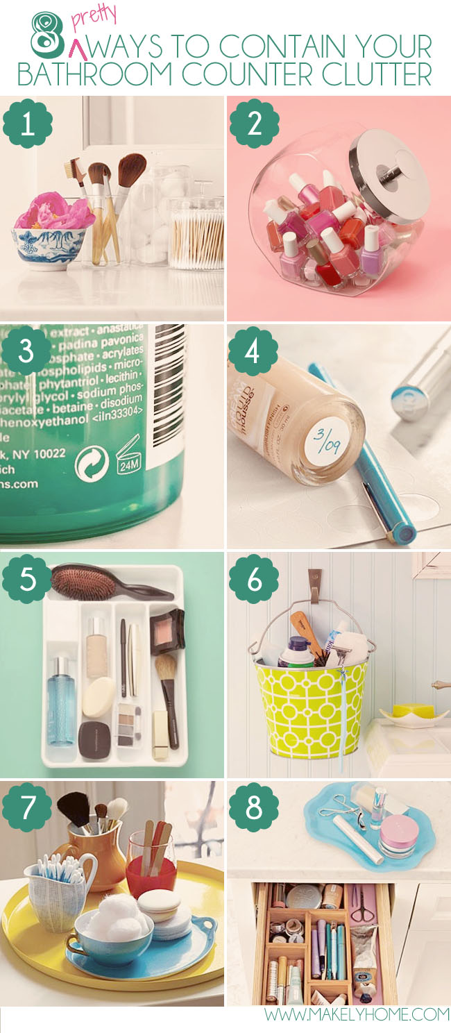 Eight Pretty Ways to Contain Your Bathroom Counter Clutter | Makely School for Girls