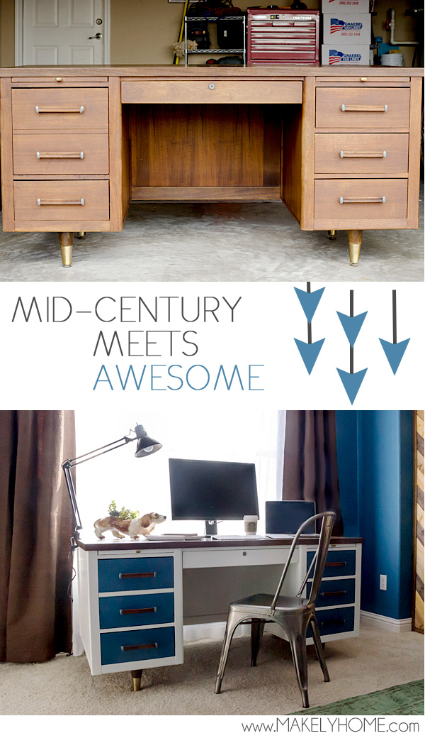 Mid-Century Desk gets a Modern Touch | Makely School for Girls