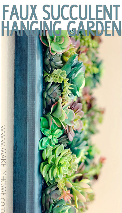 Faux Succulent Hanging Garden | Makely School for Girls