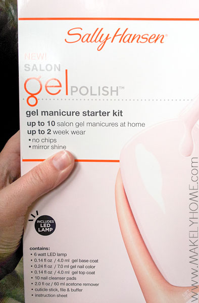 How to Do Gel Nails at Home-Sally Hansen Gel Polish Starter Kit Review