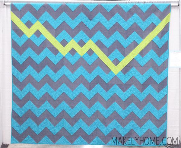 Chevron modern art quilt - ZigZigZag by Allison Chambers | MakelyHome.com