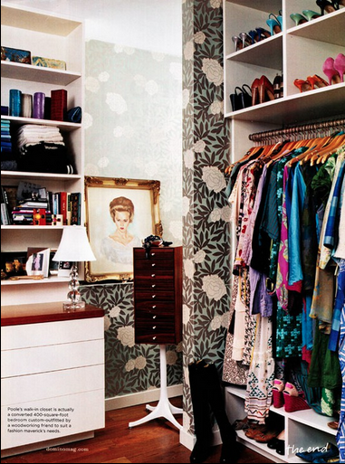 Closet with pattern - via Domino Magazine | Makely School for Girls