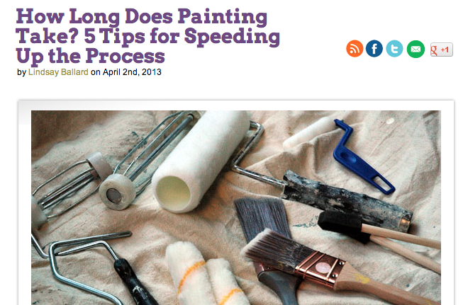 Five Tips for Speeding up the Painting Process | Makely School for Girls