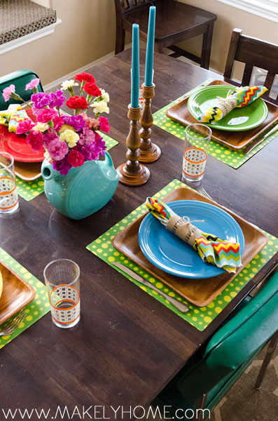 Making Every Day a Fiesta | Makely School for Girls & Make Every Day a Fiesta - Setting the Table with Fiestaware