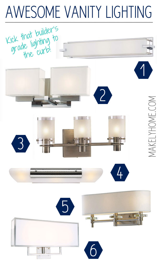 Round up of contemporary and modern bathroom lights for Contemporary bathroom vanity lighting