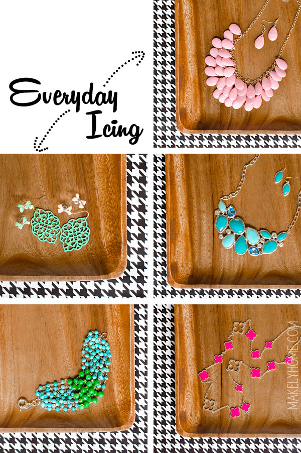 Awesome source for cheap and trendy fashion jewelry - Everyday Icing Accessory Auction on Facebook via MakelyHome.com