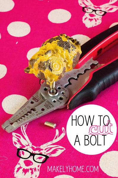 How to Easily Cut a Too Long Bolt via MakelyHome.com