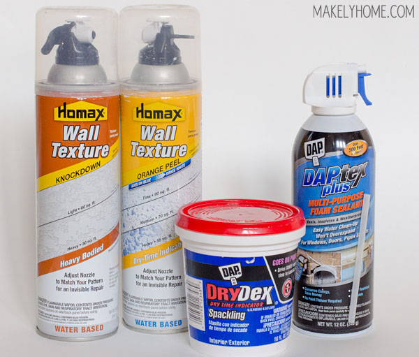 How to Repair Holes in Textured Drywall via MakelyHome.com