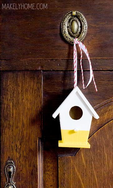 paint dip birdhouses