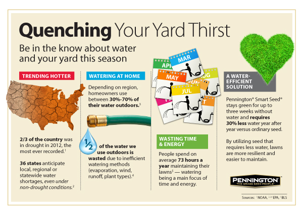 Quenching Your Yard Thirst - Infographic about drought and your grass via MakelyHome.com