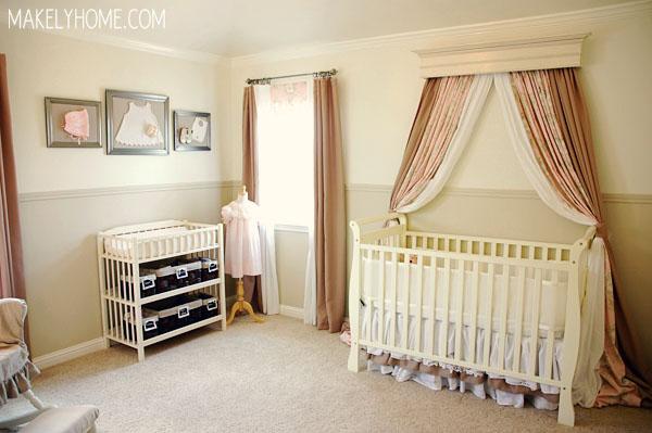 Baby Girl Nursery Ideas via MakelyHome.com