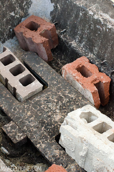 Bricks in an old BBQ grill - soon to be an amazing floral planter!  via MakelyHome.com
