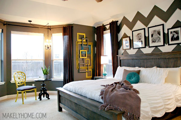 Master Bedroom - Home Tour via MakelyHome.com