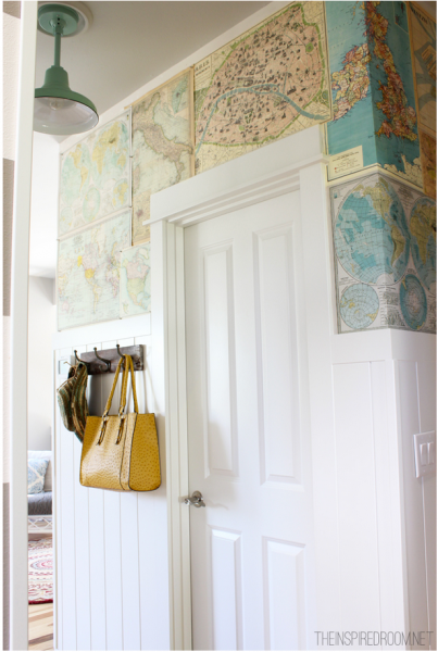 DIY Map Wallpaper Feature Wall