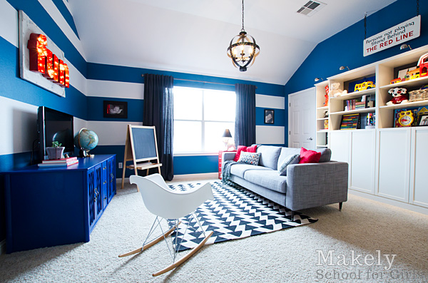 Playroom - Home Tour via MakelyHome.com