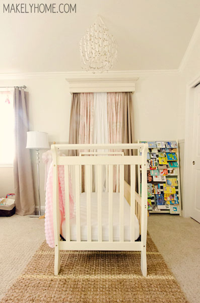 Girl's Nursery - Home Tour via MakelyHome.com