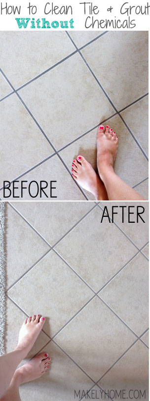 Using steam as a tile and grout cleaner - How to clean bathroom grout and tiles ...