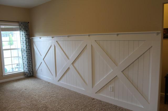 Feature Wall Friday: Barn Door Inspired Wall