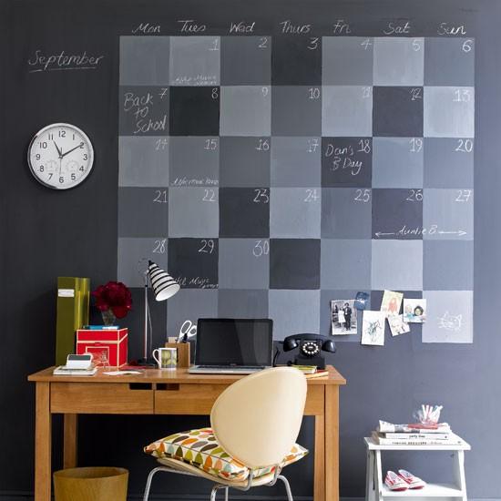 Chalkboard Calendar Feature Wall