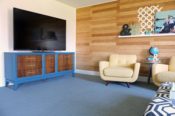 Bamboo Flooring Feature Wall