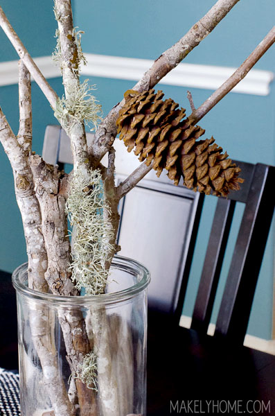 Au Naturel: Free Fall Decorating Ideas via MakelyHome.com