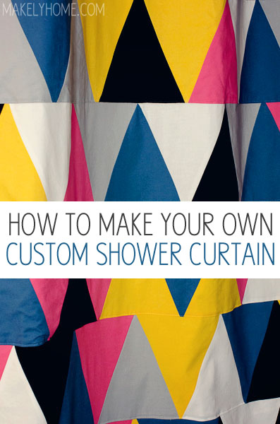 Elegant DIY Shower Curtain   Just Like Making A Quilt! Via MakelyHome.com